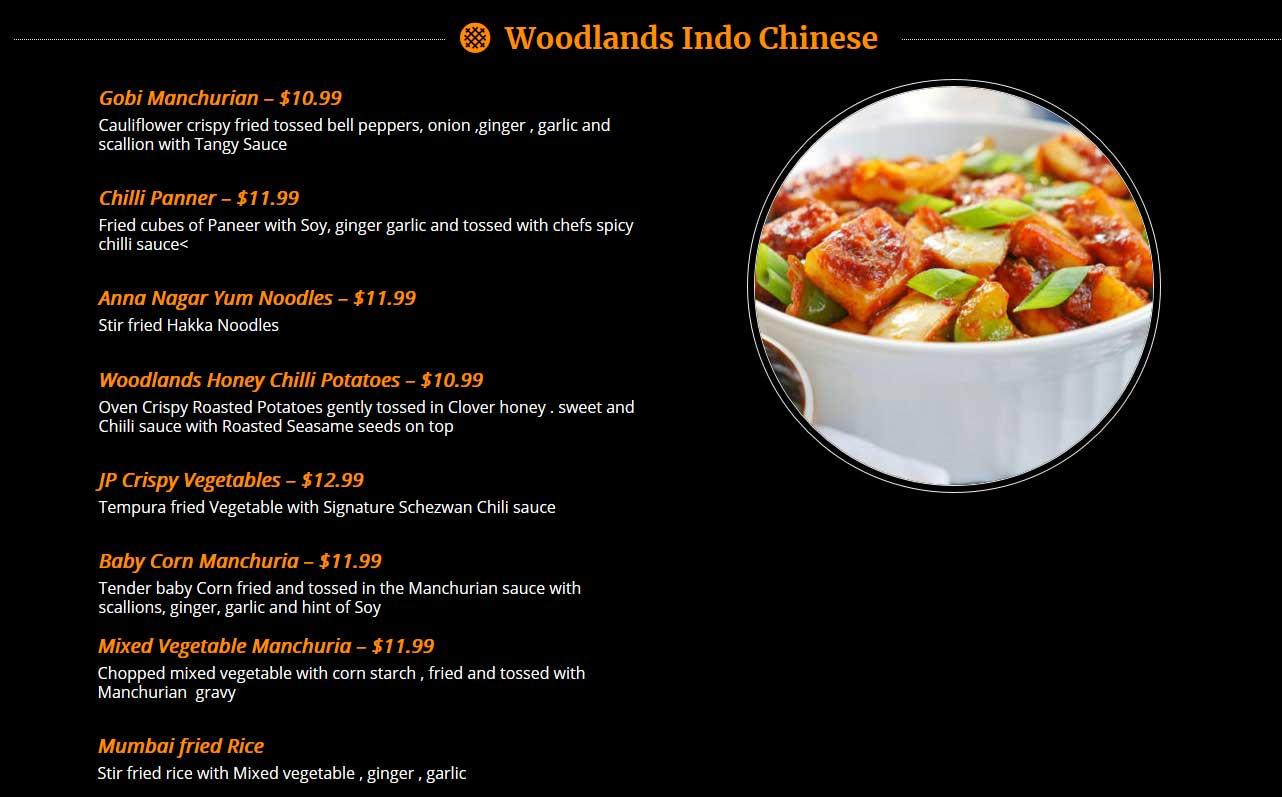 woodlands-indo-chinese-menu